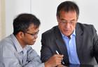 From left: Prabhu Natrajan, Manfred Werfel